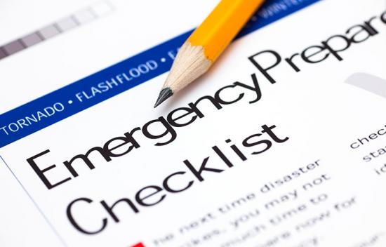 Form titled Emergency Plan Checklist